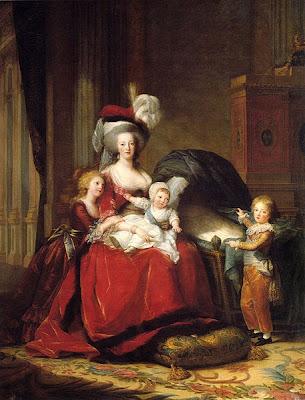 Portrait of Marie Antoinette and her Three Children, Louise Élisabeth Vigée Le Brun, 1787