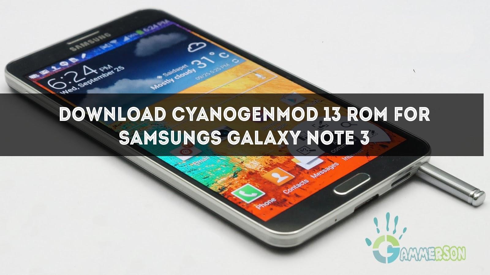 Cyanogenmod Samsung Galaxy Note 2 Herunterladen