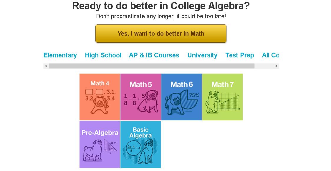 college algebra homework help