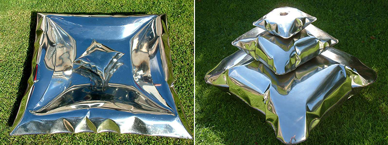metal pillows by stephen newby