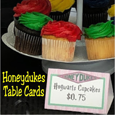 Create fun place settings or a Honeydukes Dessert table at your next Harry Potter party with these free printable Honeydukes table cards. Simply add a fun name to a yummy candy to turn a sweet treat into something straight out of Honeydukes candy store.
