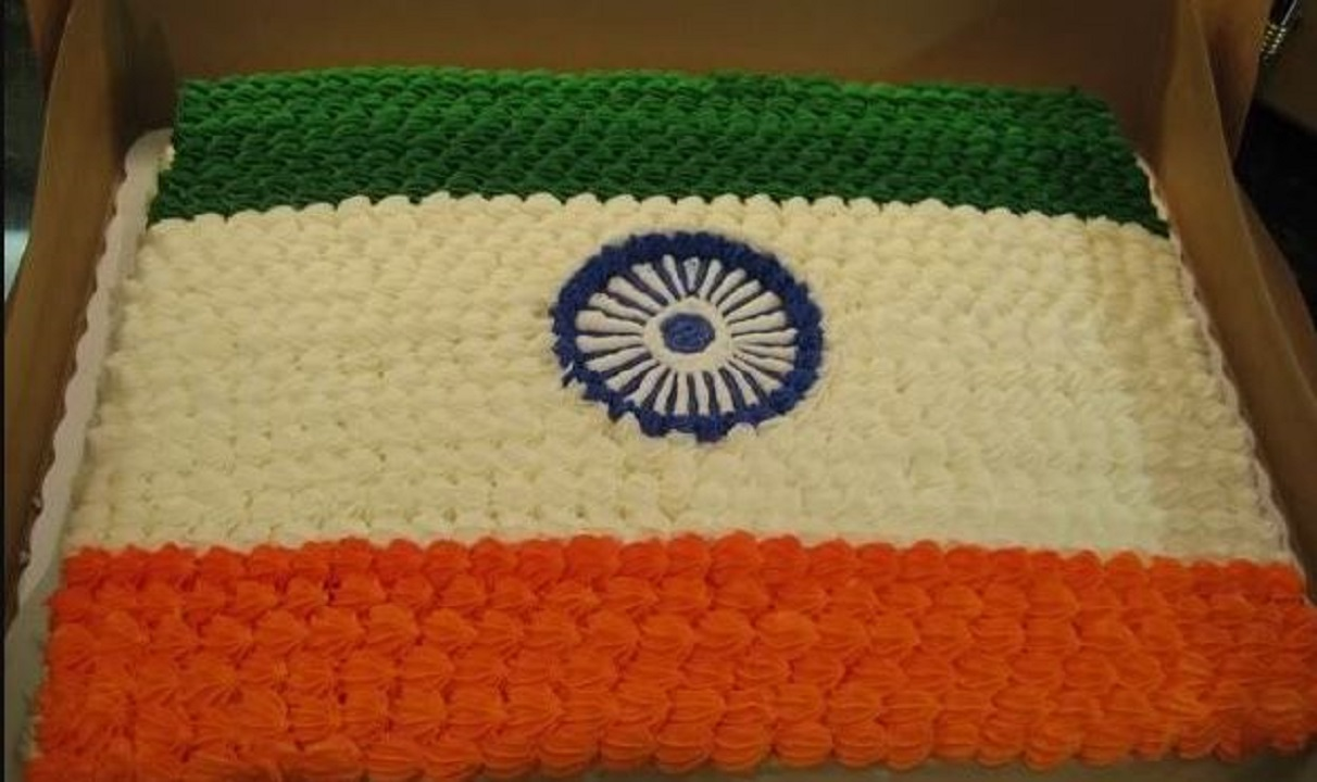 Cutting a cake made of the colors of the national flag is not punishable