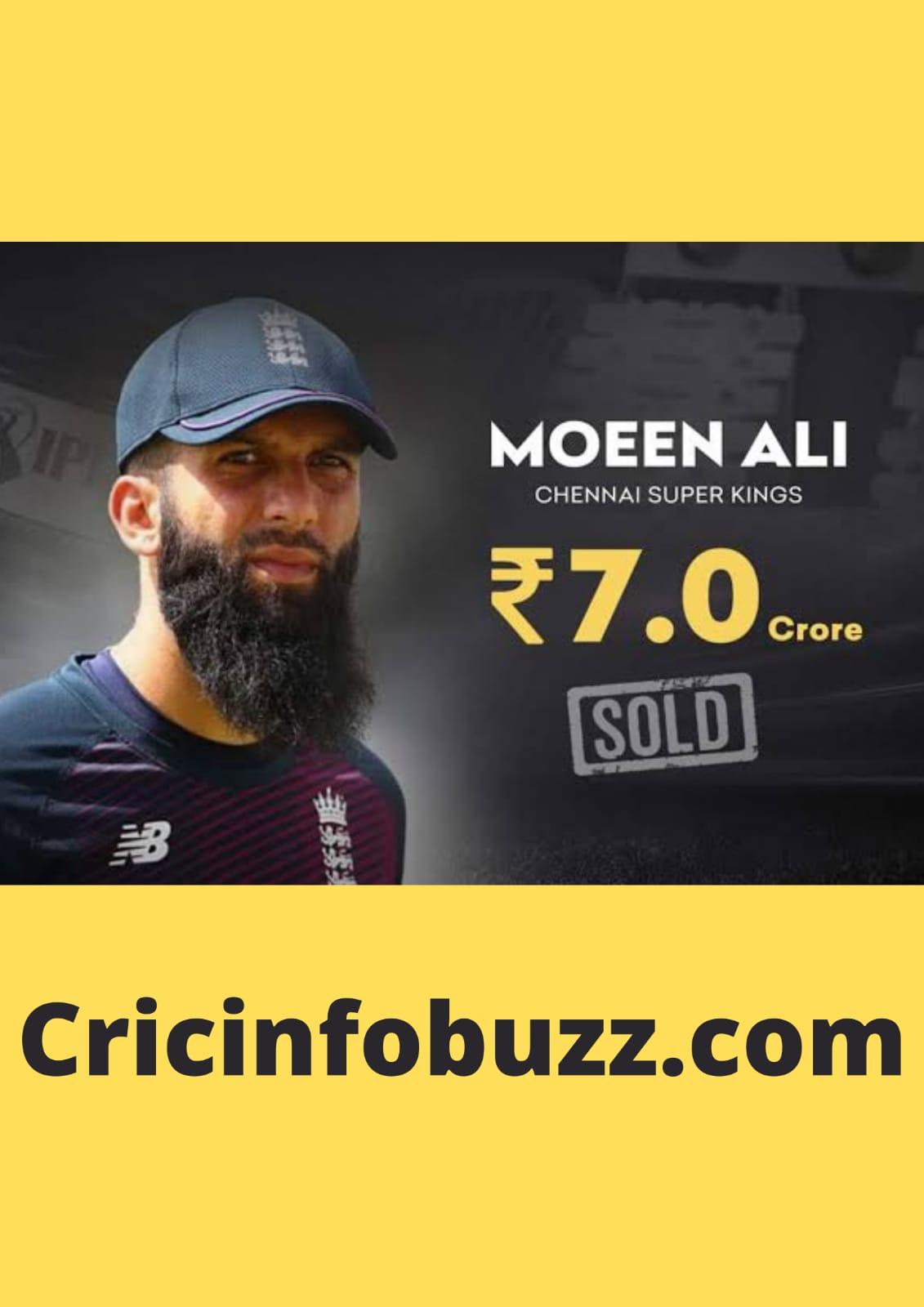 Moeen Ali  IPL 2021 selling price