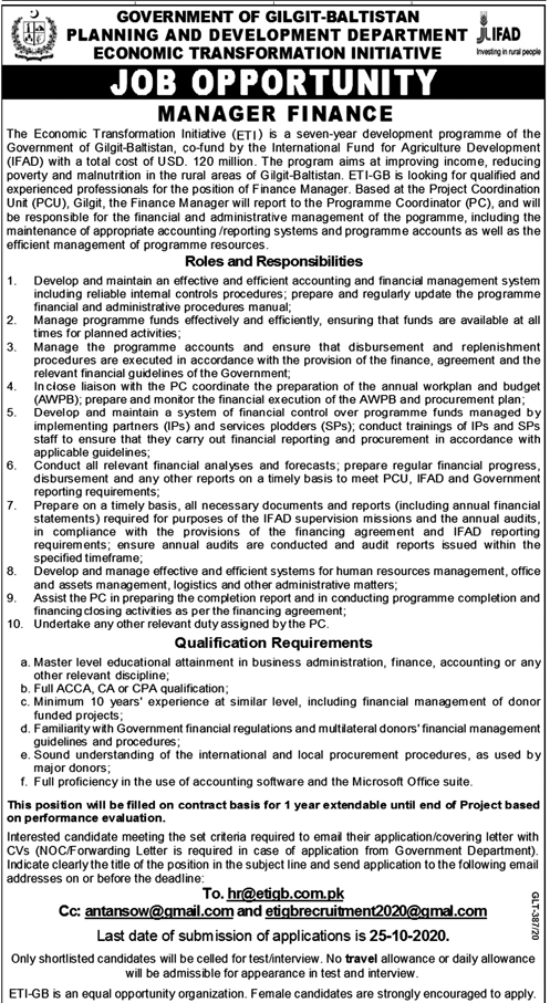 Planning & Development Department Latest Jobs Advertisement in Pakistan