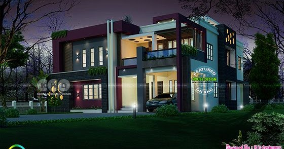 awesome contemporary kerala home design thumb - 35+ Modern Contemporary House Designs In Kerala Background