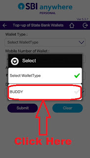 how to add money in state bank buddy app through sbi anywhere app