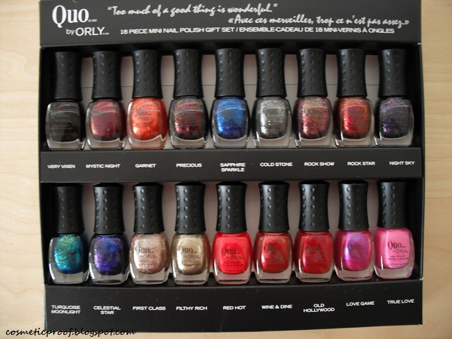 Quo By Orly 18 Piece Mini Nail Polish Set Cosmetic Proof