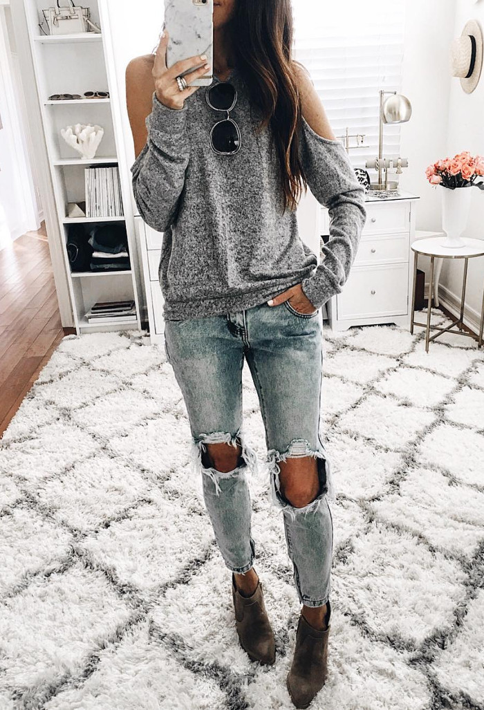 gray shades outfit