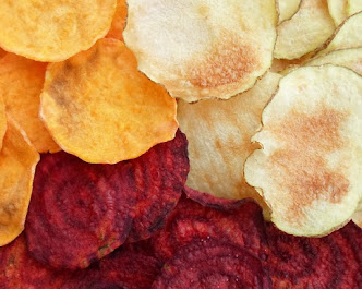 No-guilt microwave vegetable chips