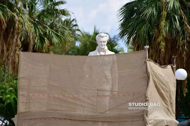 Εντατικά συνεχίζονται οι εργασίες αποκατάστασης του αγάλματος του Καποδίστρια στο Ναύπλιο