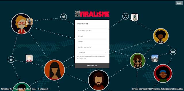 Acesse a nova rede social Viralisme