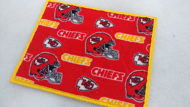 Chiefs fleece backing fabric