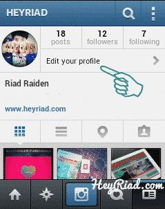 Menyembunyikan foto instagram agar private