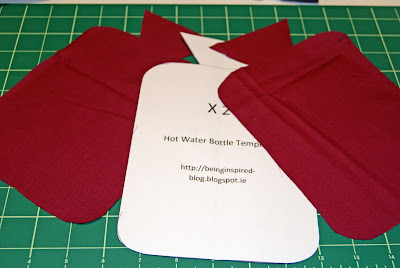 Hot Water Bottle template - free download