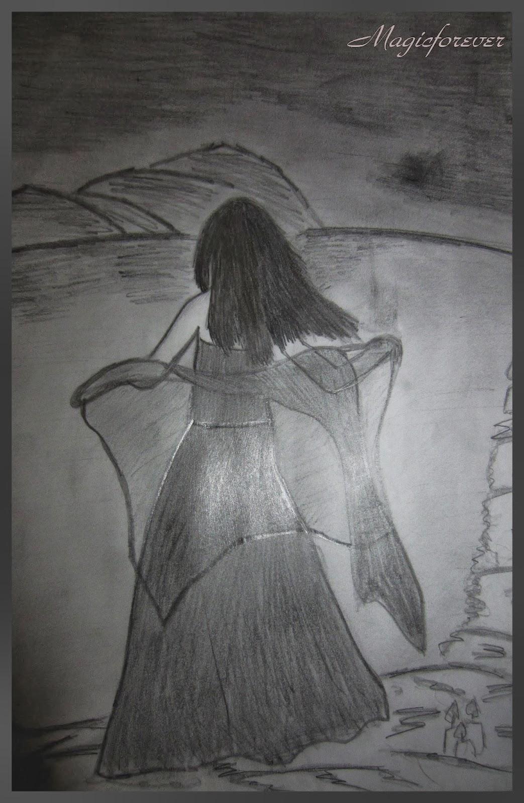 päťka porazených,anjel, pád,girl,sad,depresívne,kreslenie,obraz