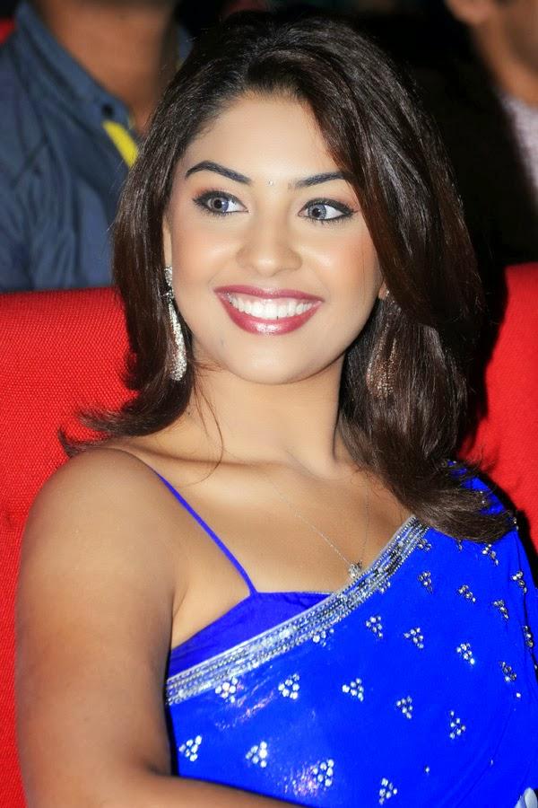 Richa Gangopadhyay – Blue Saree Stills Photo Gallery