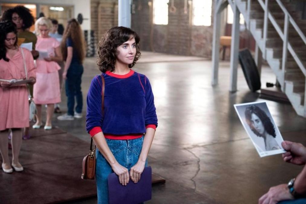 """Ruth en la escena de casting de """"Glow"""""""