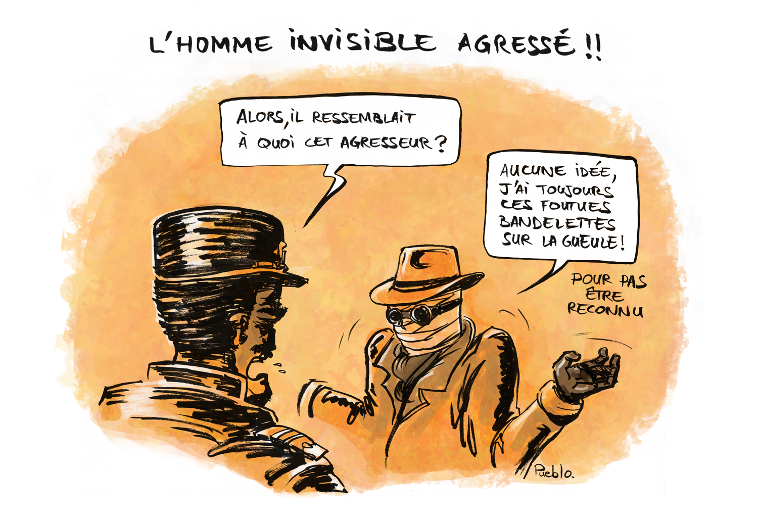 homme invisible violence