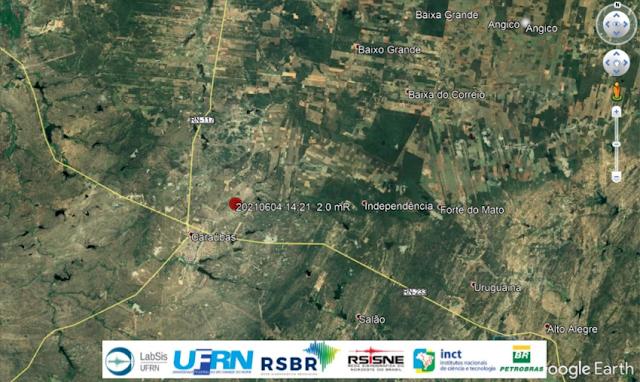 Tremor de terra de magnitude 2.0 é registrado no Município de Caraúbas, RN