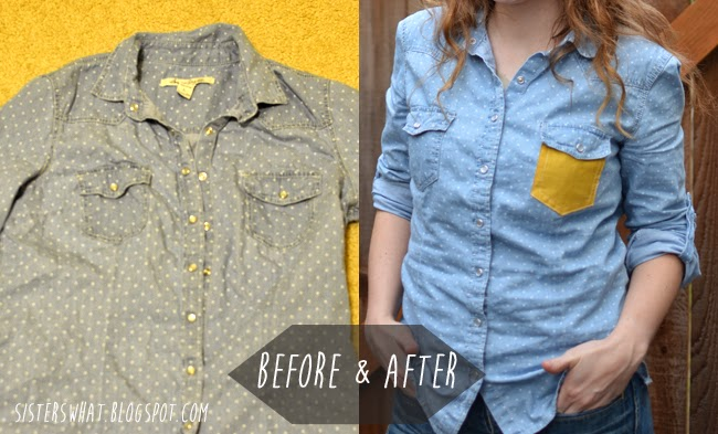 add a color pocket to spice up a shirt