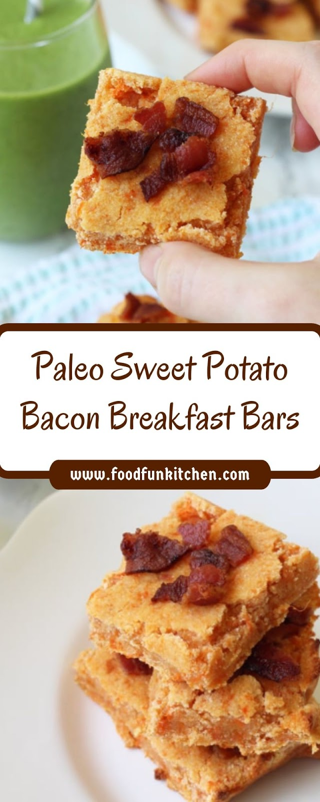 PALEO SWEET POTATO BACON BREAKFAST BARS