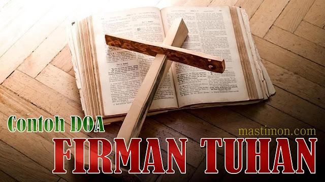 Contoh DOA Kristen sebelum membaca dan mendengarkan Firman Tuhan