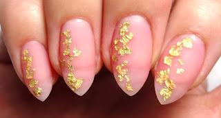 Sheer Pink Foil Nails