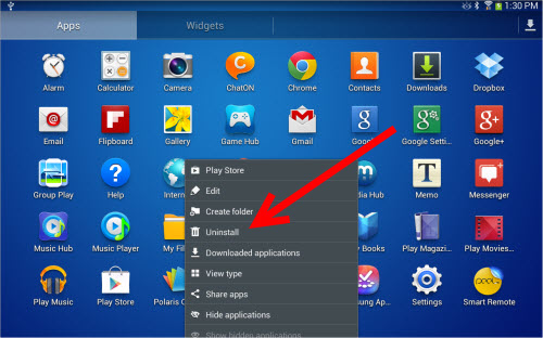 How To Uninstall An App On The Galaxy Tab 3
