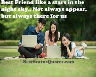 status for friend