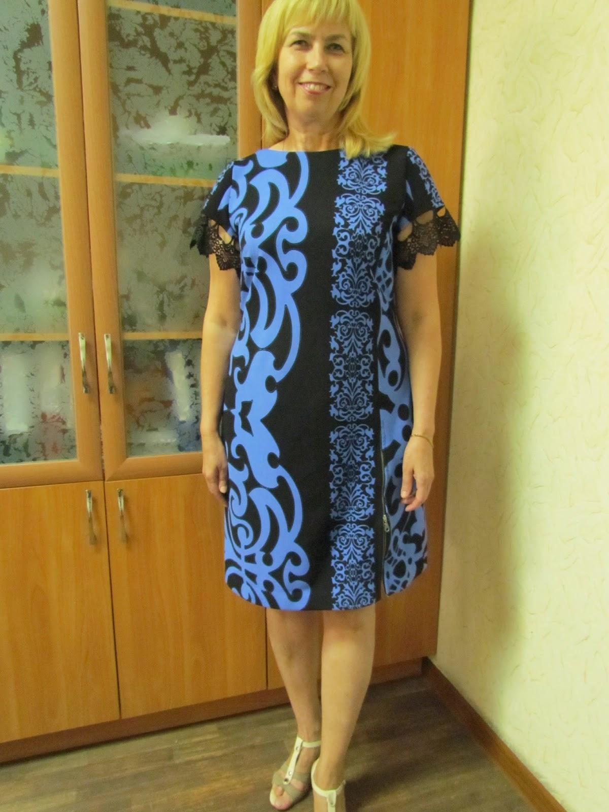 Платье с одним купонным рисунком