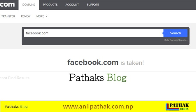 Domain Register Checker, pathaks blog, anil pathak