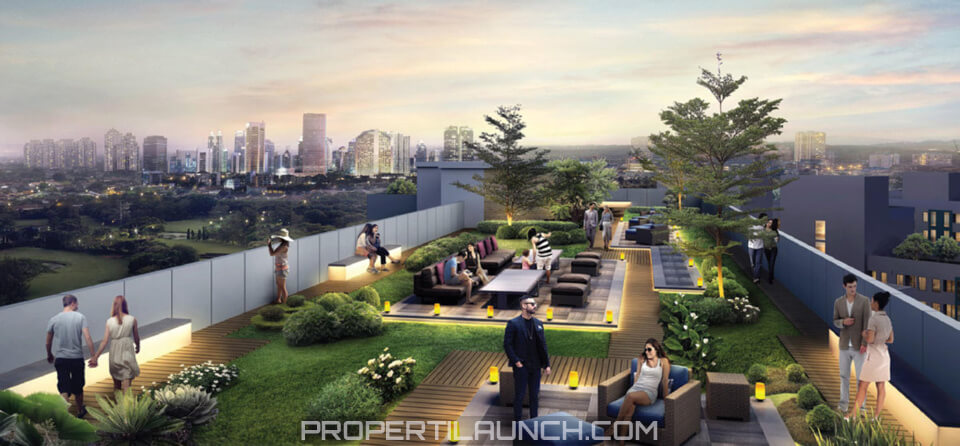 Rooftop Garden Serpong Garden Apartment Tower Bellerosa