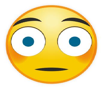 Emoticon WA Eksresi Terkaejut Heran Kaget