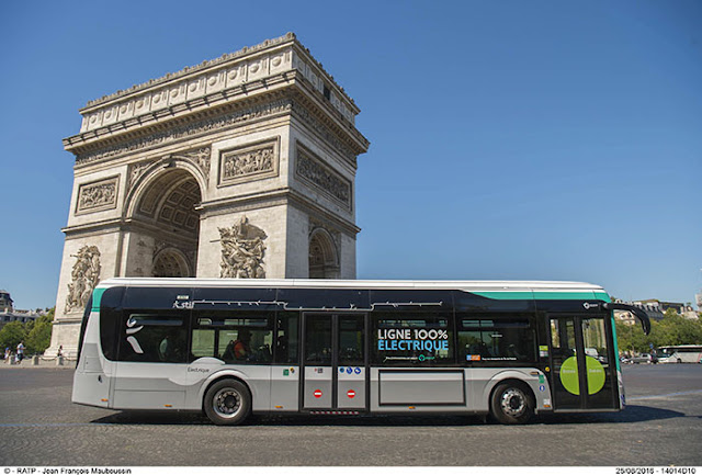 Take the bus in Paris