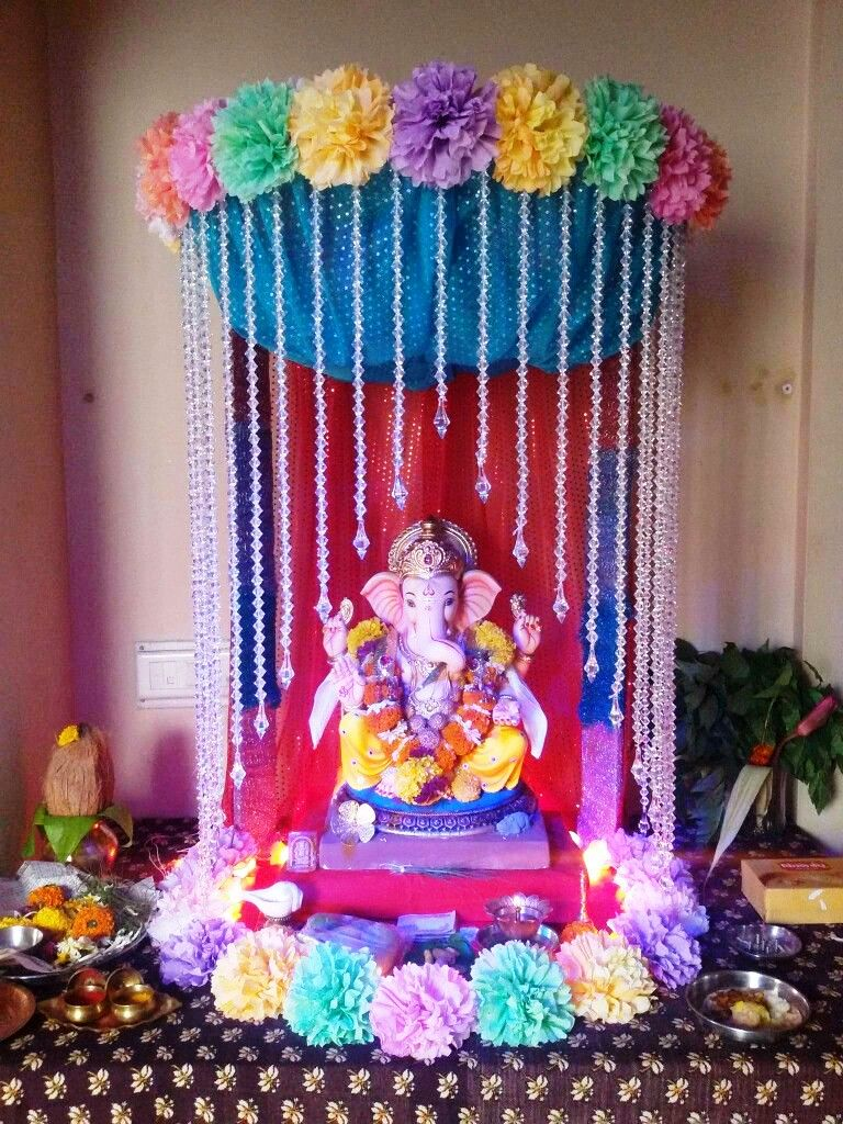 Ganpati Decoration Ideas For Home 2020 Simple And Easy