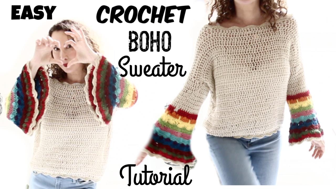 2a06cb3d4f15 Spring Boho Crochet Sweater