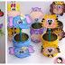 Ideas de cómo decorar latas de leche con foami para fiestas infantiles