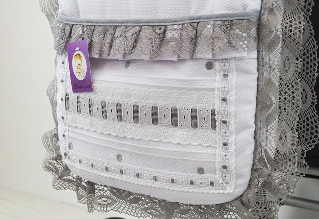 bolsa silla bebecar stylo class lencero blanco gris