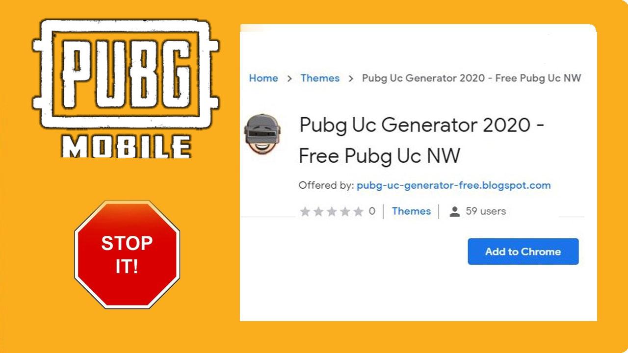Beware from Fake Generators and Extensions PUBG Mobile