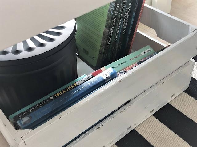 Äippälomatekemistä: laatikollinen lukemattomia kirjoja