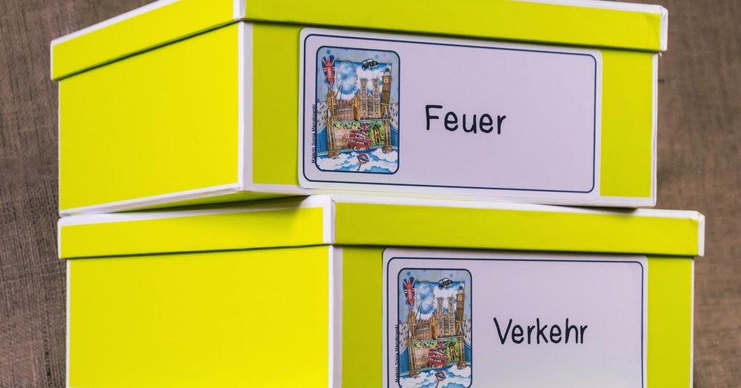 Lernstubchen Kisten Beschriften
