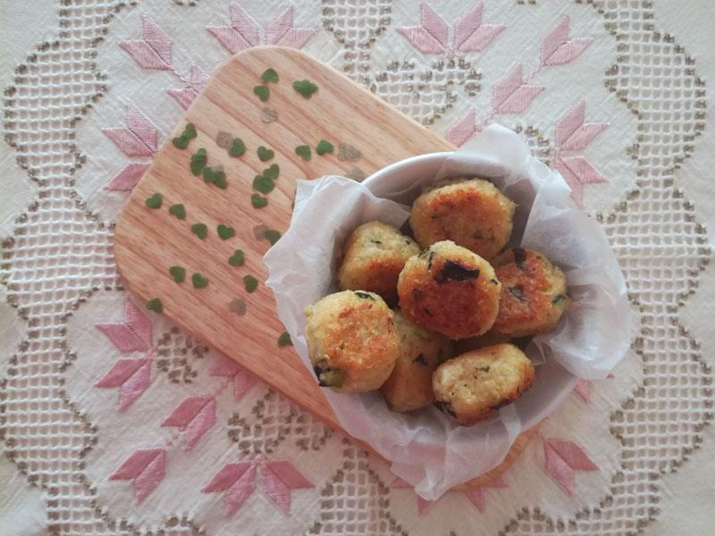 Polpette di quinoa con zucchine e menta