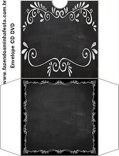 Blackboard Style, Free Printable CD Case.