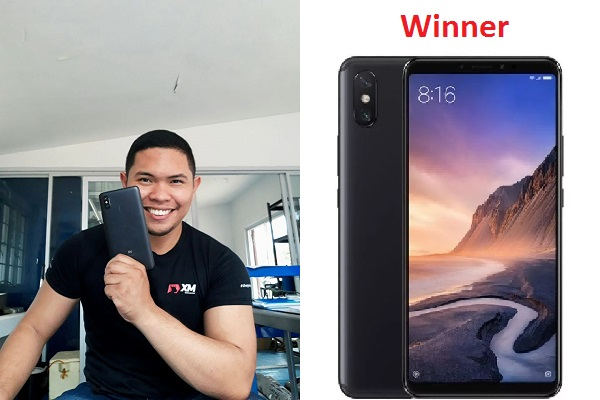 Winner of Free Xiaomi Mi Max 3 Mobile Phone November 2019
