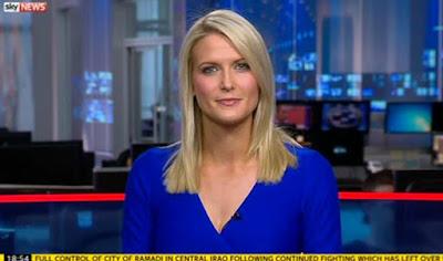 Jo Wilson working in her station in Sky Sports