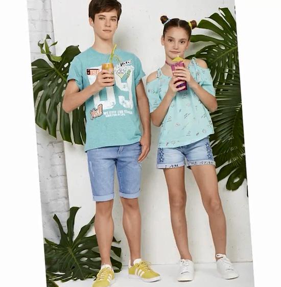 Shorts y remeras moda infantil primavera verano 2018. Moda primavera verano 2018.