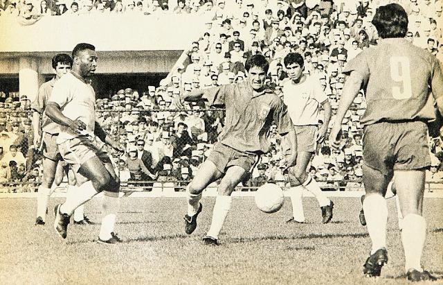 Chile y Brasil en partido amistoso, 4 de octubre de 1970