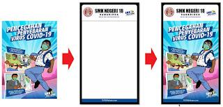 Desain Banner Protokol Kesehatan Sekolah