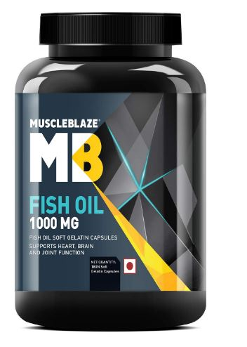 MuscleBlaze Omega 3 Fish Oil 1000 mg (180mg EPA and 120mg DHA) (180 Capsules)