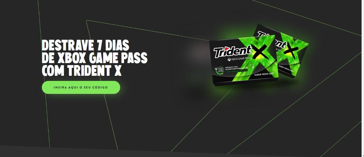 Promoção Novo Trident 2020 Destrave 1 Semana Jogos Xbox Game Pass